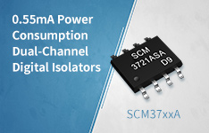 0.55mA Power Consumption Dual-Channel Digital Isolators——SCM37xxA