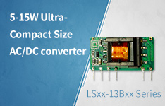 5-15W Ultra-Compact Size AC/DC converter LSxx-13Bxx Series