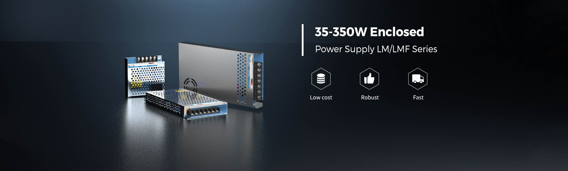 Mornsun 35-350W enclosed switching power supply