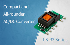 Compact and All-rounder AC/DC Converter LS-R3 Series