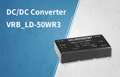 50W DCDC Converter VRB_LD-50WR3 with no-load consumption as low as 0.048W