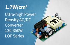 1.7W/cm3 Ultra-high Power Density AC DC Converter 120-350W LOF Series