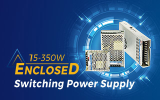 15-350W Enclosed-Switching-Power-Supplies