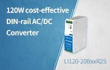 120W Cost-effective DIN-rail AC/DC Converter—LI120-20BxxR2S Series