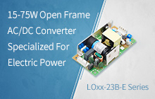 15-75W Open Frame AC/DC Converter Specialized For Electric Power - LOxx-23B-E Series