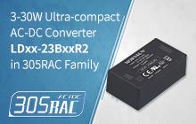 3-30W Ultra-Compact AC-DC Converter LDxx-23BxxR2 in 305RAC Family