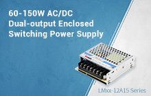 60-150W AC/DC Dual-output Enclosed Switching Power Supply for Laser Galvo--LMxx-12Axx Series