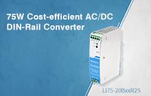 75W Cost-effective AC/DC DIN-Rail Converter — LI75-20BxxR2S Series