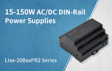 15-150W Cost-effective AC/DC DIN-Rail Power Supplies - LIxx-20BxxPR2 Series