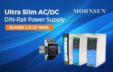 MORNSUN 30-480W Compact ACDC DIN-Rail Power Supply