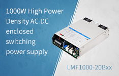 1000W High Power Density AC DC enclosed switching power supply LMF1000-20B Series