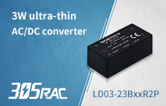 3W cost-effective and ultra-compact AC-DC Converter--LDxx-23BxxR2P in 305RAC Family