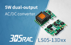 5W ultra-compact dual-output AC-DC Converter--LS05-13Dxx in 305RAC Family
