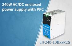 240W AC/DC DIN-Rail power supply LIF240-10BxxR2S with PFC