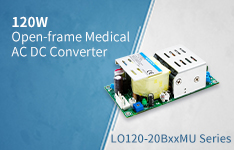 120W Open-frame Medical AC DC Converter LO120-20BxxMU Series
