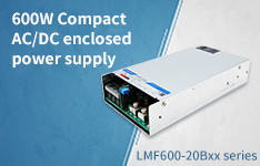 600W Compact AC DC Enclosed Switching Power Supply LMF600-20Bxx