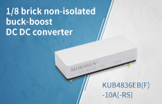 1/8 brick non-isolated buck-boost DC DC converter KUB4836EB(F)-10A(-RS)