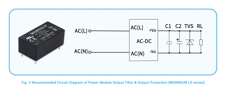 Recommended Circuit Diagram of Power Module Output Filter & Output Protection (MORNSUN LD series).jpg