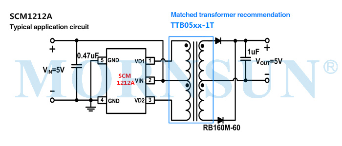 Application of Fixed Input Push-pull Control Chip SCM1212A