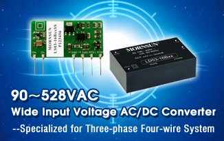 90~528VAC Wide Input voltage AC/DC Converter Specialized for Three-phase Four-wire System