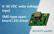Cost-effective Compact Size SMD Open Frame LED Driver - KC24JT Series