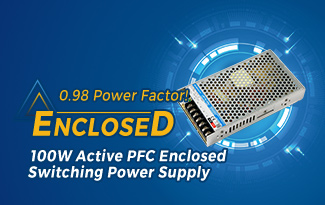 0.98 Power Factor!100WActive PFC Enclosed Switching Power Supply LMF100-20Bxx Series