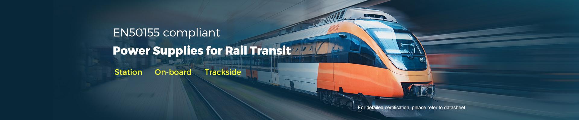 EN50155 compliant power supplies for rail transit